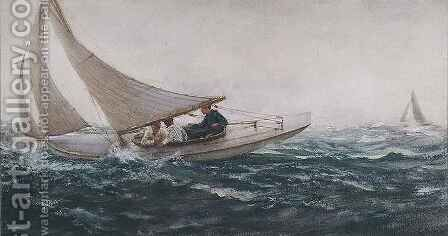 Sailing Free by Charles Napier Hemy - Reproduction Oil Painting