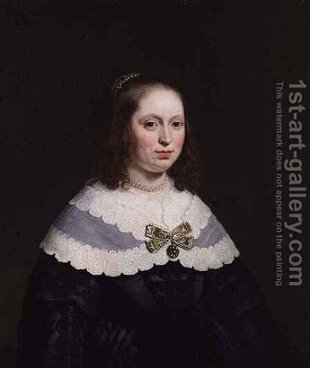 Portrait of Sophia Trip Wife of Balthasar Coymans by Bartholomeus Van Der Helst - Reproduction Oil Painting