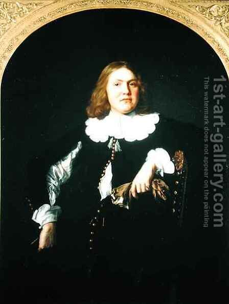Portrait of a Gentleman by Bartholomeus Van Der Helst - Reproduction Oil Painting