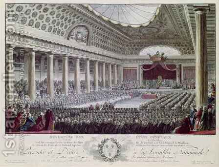 Opening of the Estates General at Versailles by Isidore Stanislas Helman - Reproduction Oil Painting