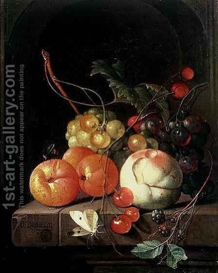 Still Life of Fruit by David de II Heem - Reproduction Oil Painting