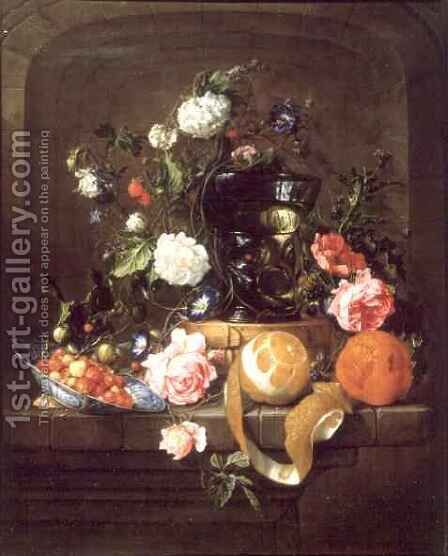 A Still Life in a Stone Niche by Cornelis De Heem - Reproduction Oil Painting