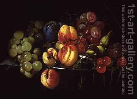 Still Life of Fruit 3 by Cornelis De Heem - Reproduction Oil Painting