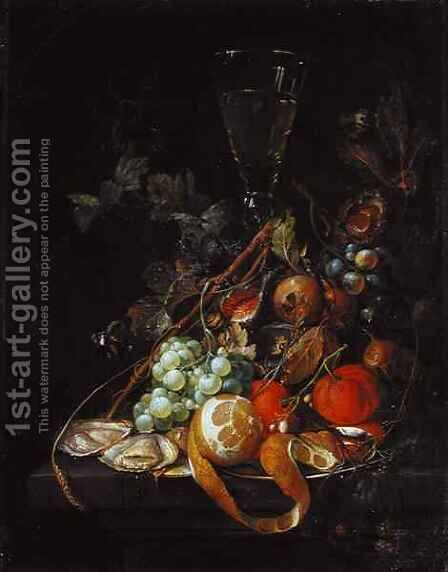 Still life with Fruit by Cornelis De Heem - Reproduction Oil Painting