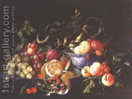 A Still Life of Fruit by Cornelis De Heem - Reproduction Oil Painting
