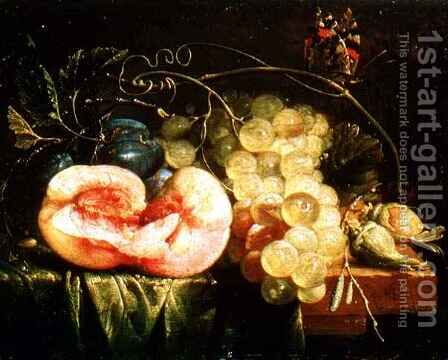 Still Life with Fruit 2 by Cornelis De Heem - Reproduction Oil Painting