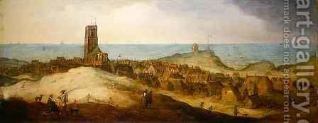 A view of Egmond Abbey by Claes Jacobsz. van der Heck - Reproduction Oil Painting
