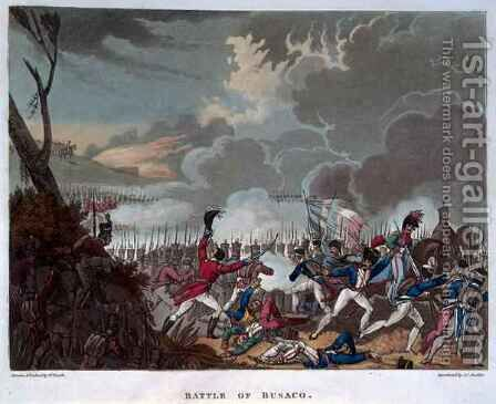 Battle of Busaco on 27th September 1810 by (after) Heath, William - Reproduction Oil Painting