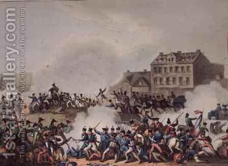 Battle of Leipsic Leipzig by (after) Heath, William - Reproduction Oil Painting