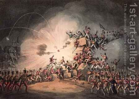 Storming of Ciudad Rodrigo by (after) Heath, William - Reproduction Oil Painting