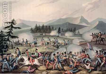 Battle of Barrosa by (after) Heath, William - Reproduction Oil Painting