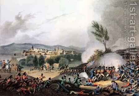 Battle of Vittoria by (after) Heath, William - Reproduction Oil Painting
