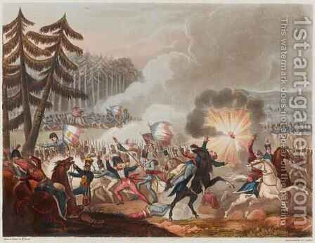 Battle of Barrosa on 5th March 1811 by (after) Heath, William - Reproduction Oil Painting