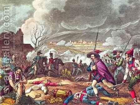 The Battle of Toulouse by (after) Heath, William - Reproduction Oil Painting