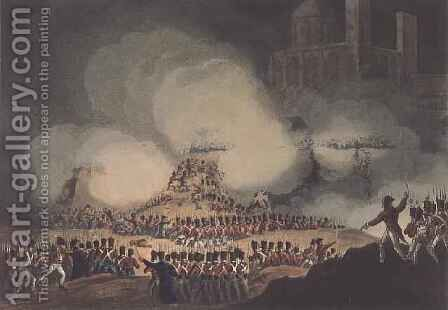 Storming of Monte Video by (after) Heath, William - Reproduction Oil Painting