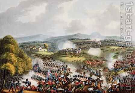 Battle of Quatre Bras by (after) Heath, William - Reproduction Oil Painting