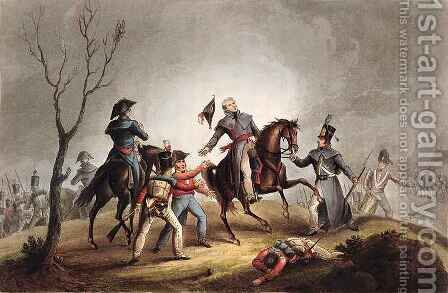 Death of Sir John Moore 1761-1809 by (after) Heath, William - Reproduction Oil Painting