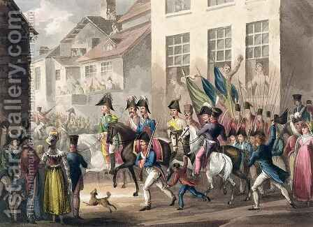 Entrance of the Allies into Paris by (after) Heath, William - Reproduction Oil Painting