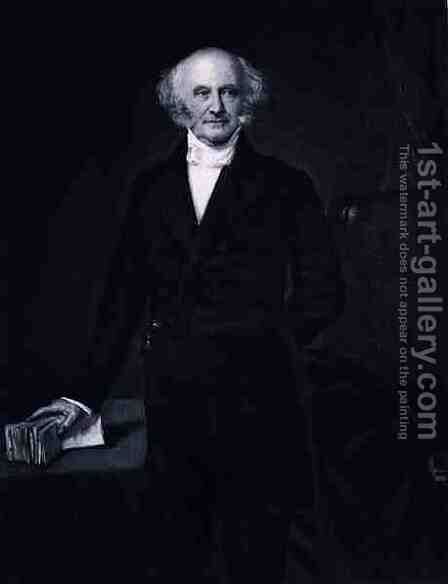 Martin Van Buren 8th President of the United States of America by (after) Healy, George Peter Alexander - Reproduction Oil Painting