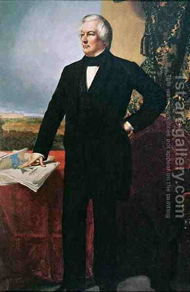 Millard Fillmore 1800-74 by (after) Healy, George Peter Alexander - Reproduction Oil Painting