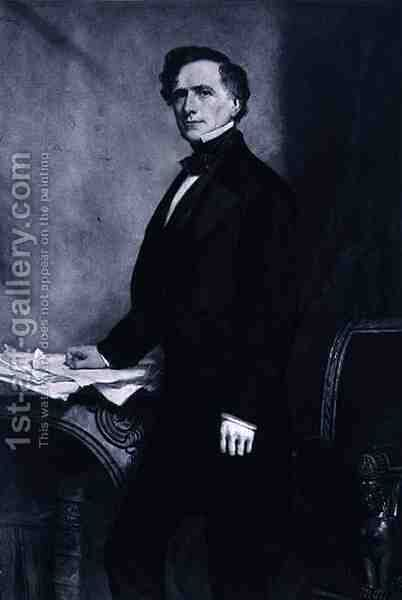 Franklin Pierce 14th President of the United States of America by (after) Healy, George Peter Alexander - Reproduction Oil Painting