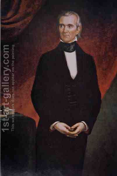 James Knox Polk 1795-1849 by (after) Healy, George Peter Alexander - Reproduction Oil Painting