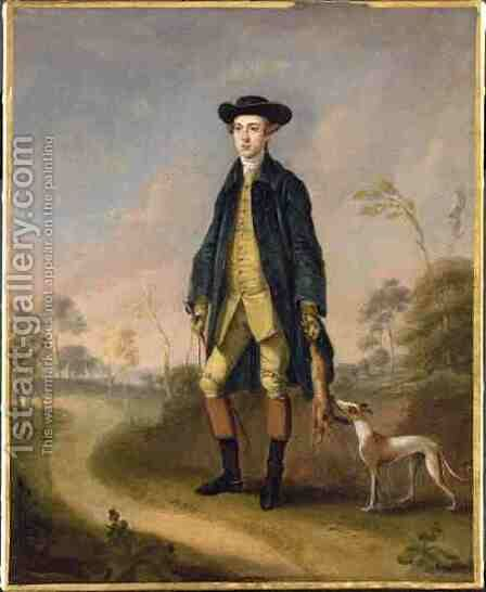 Huntsman with a Whippet by Edward Haytley - Reproduction Oil Painting