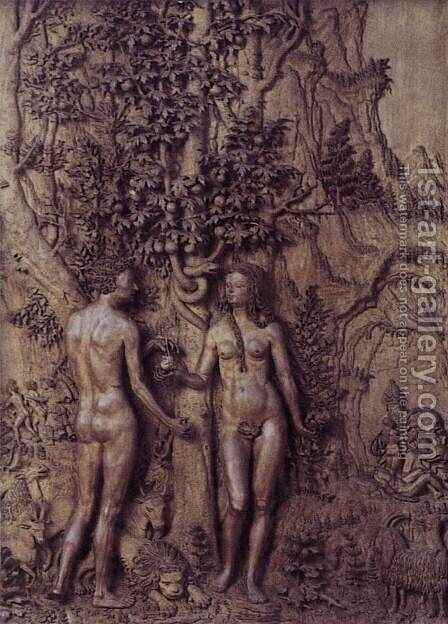 Adam and Eve by - Unknown Painter - Reproduction Oil Painting