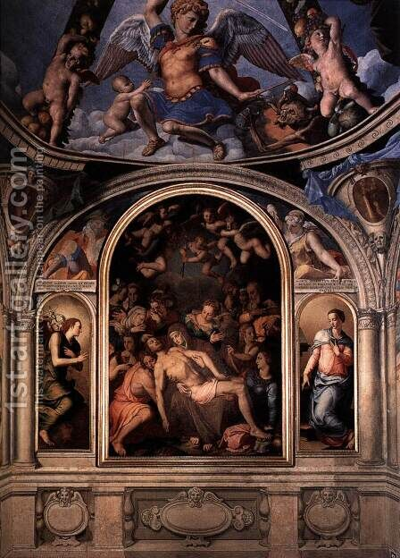 Altarpiece by Agnolo Bronzino - Reproduction Oil Painting