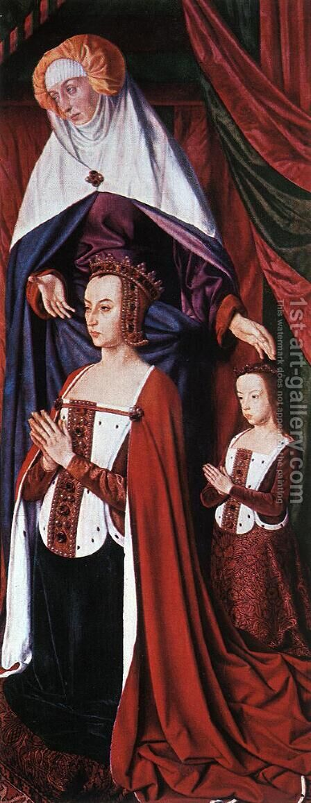 Anne de France, Wife of Pierre de Bourbon by - Unknown Painter - Reproduction Oil Painting