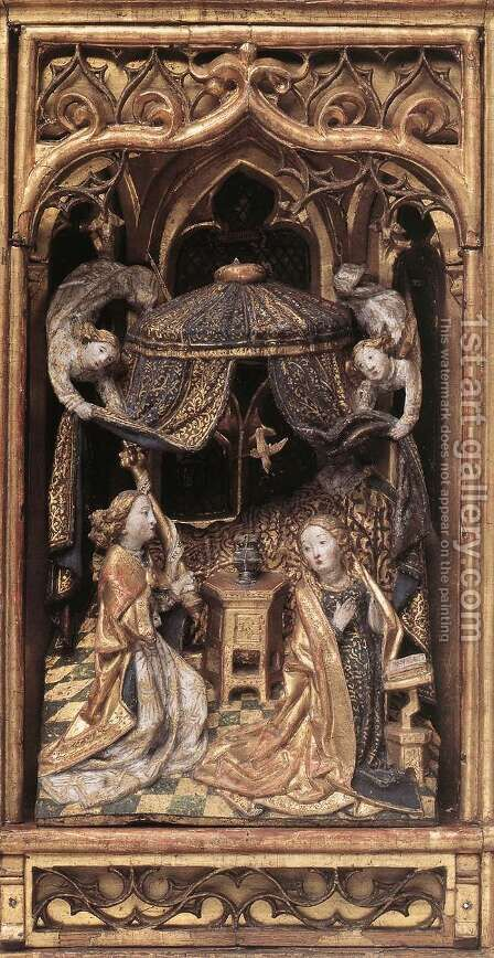 Annunciation Altarpiece by - Unknown Painter - Reproduction Oil Painting