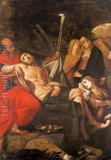 Entombment of Christ by Giovanni Battista Crespi (Cerano II) - Reproduction Oil Painting