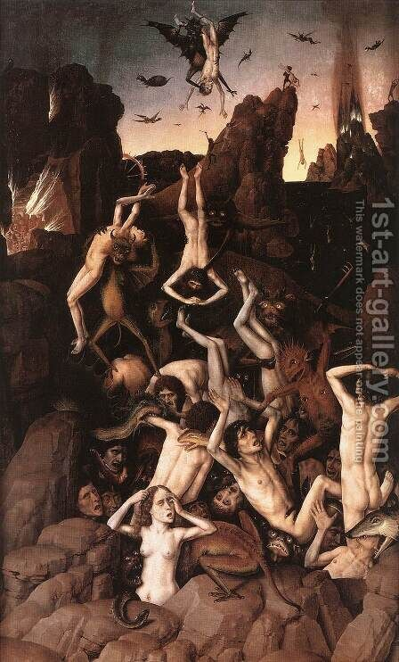 Hell by Dieric the Elder Bouts - Reproduction Oil Painting