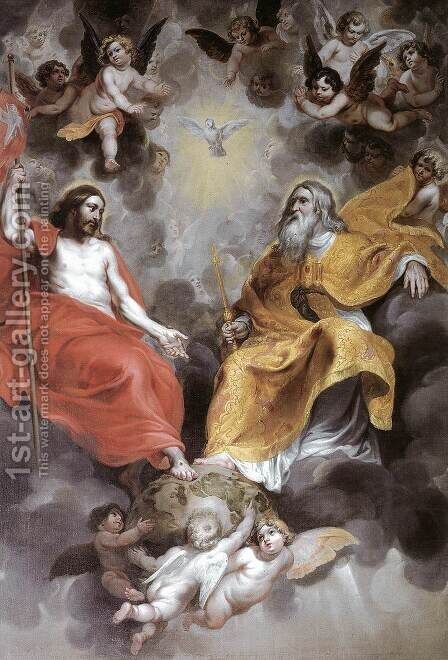 Holy Trinity by Hendrik van Balen, I - Reproduction Oil Painting