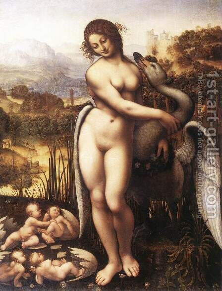 Leda and the Swan by Cesare da Sesto - Reproduction Oil Painting