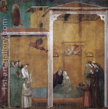 Legend of St Francis 27. Confession of a Woman Raised from the Dead by Master of Saint Cecilia - Reproduction Oil Painting