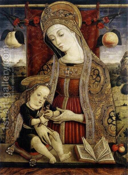 Madonna and Child by Carlo Crivelli - Reproduction Oil Painting