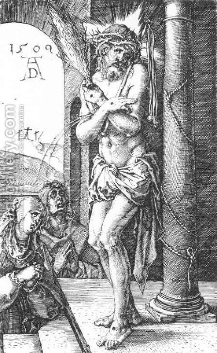 Man of Sorrows by the Column (No. 1) by Albrecht Durer - Reproduction Oil Painting