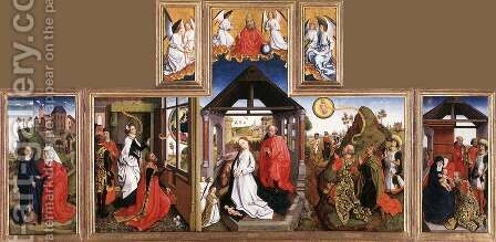 Nativity Triptych by - Unknown Painter - Reproduction Oil Painting