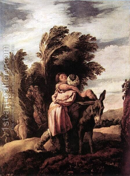 Parable of the Good Samaritan by Domenico Feti - Reproduction Oil Painting