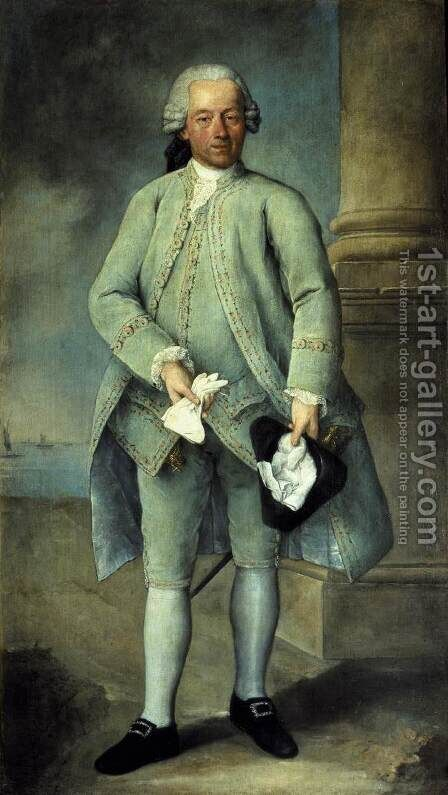 Portrait of a Gentleman by Alessandro Longhi - Reproduction Oil Painting