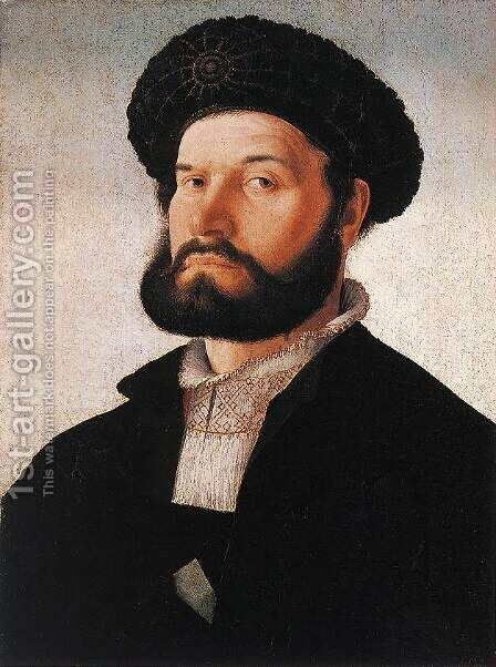 Portrait of a Venetian Man by Jan Van Scorel - Reproduction Oil Painting