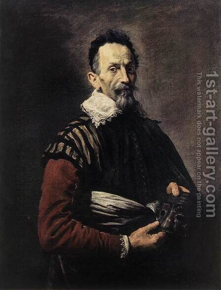 Portrait of an Actor by Domenico Feti - Reproduction Oil Painting