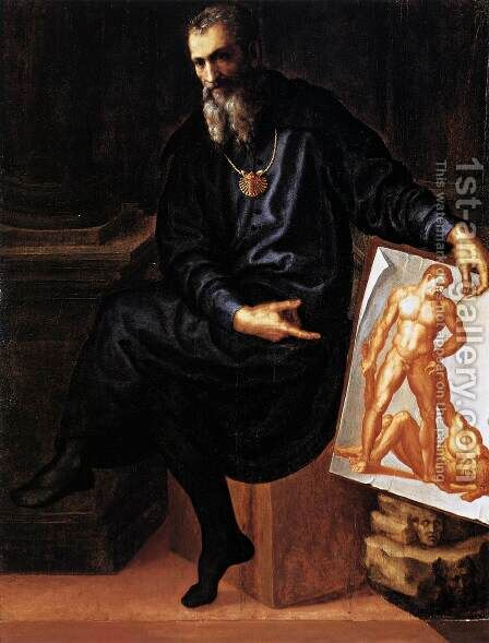 Self-Portrait by Baccio Bandinelli - Reproduction Oil Painting