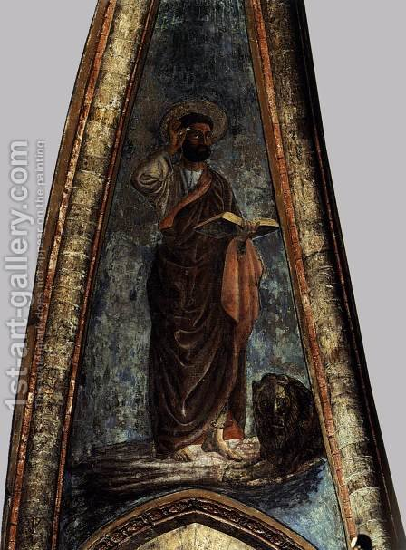 St Mark by Andrea Del Castagno - Reproduction Oil Painting