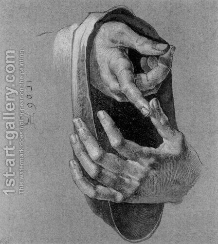 Study of Hands by Albrecht Durer - Reproduction Oil Painting