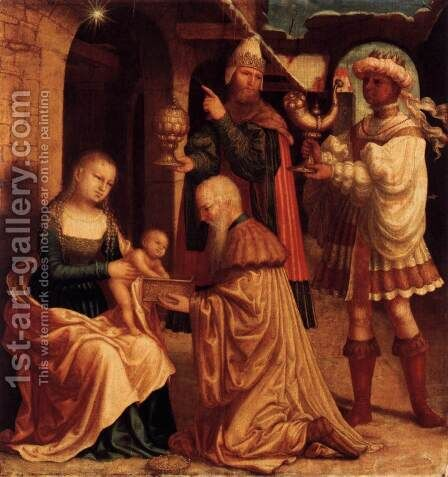 The Adoration of the Magi 2 by - Unknown Painter - Reproduction Oil Painting
