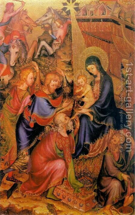 The Adoration of the Magi (Bargello Diptych) by - Unknown Painter - Reproduction Oil Painting