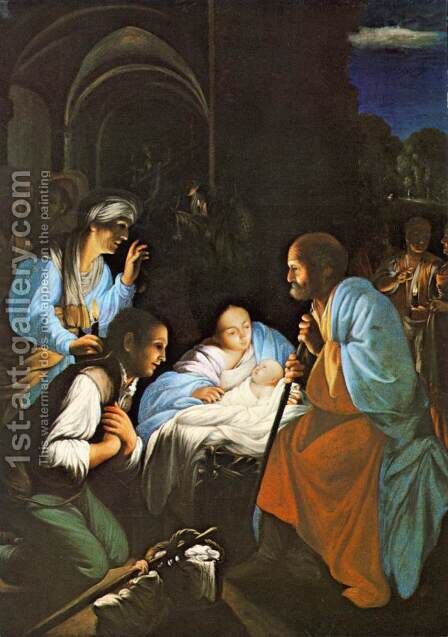 The Birth of Christ by Carlo Saraceni - Reproduction Oil Painting
