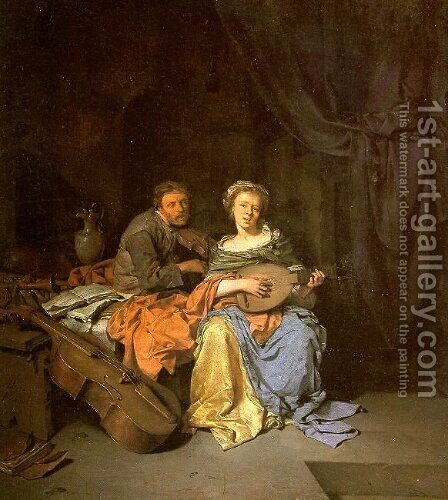 The Duet by Cornelis (Pietersz.) Bega - Reproduction Oil Painting